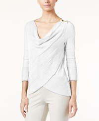Inc International Concepts Cowl Neck Layered Sweater Only At Macy's White