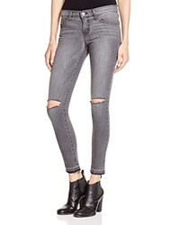 Flying Monkey Ripped Knee Skinny Jeans In Grey