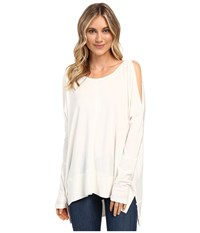Culture Phit Andreea Top With Side Slits Ivory Women's Clothing White