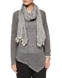 Eileen Fisher Organic Cotton Crinkle Striped Scarf