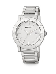 Versace Acron Engraved Stainless Steel Watch