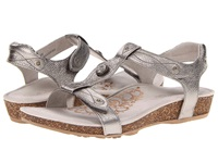 Aetrex Lori Adjustable Quarter Strap Pewter Women's Sandals
