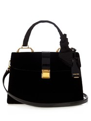 Miu Miu Madras Top Handle Velvet Bag Black
