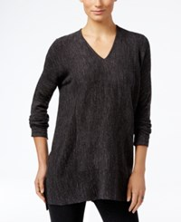 Styleandco. Style Co. V Neck Long Sleeve Tunic Only At Macy's Deep Black