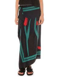 Marni Painted Cascade Long Skirt Grey