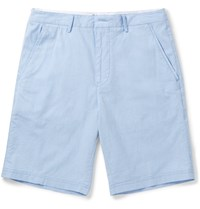 Hugo Boss Striped Stretch Cotton Shorts Blue