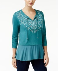 Styleandco. Style Co. Flounce Hem Peasant Top Only At Macy's Delilah Green