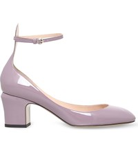 Valentino Tan Go 60 Patent Leather Courts Purple