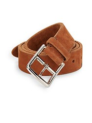 Brunello Cucinelli Suede Belt Warm Brown