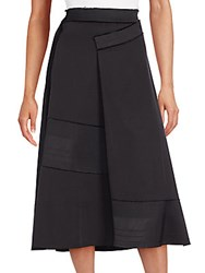 Donna Karan Circle Wrap Skirt Black