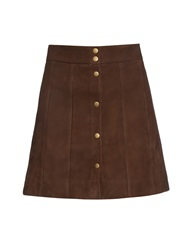 Frame Denim Le Panelled Suede Skirt