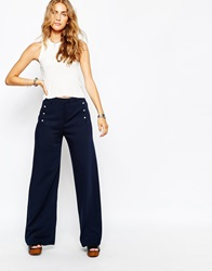 Pull And Bear Pullandbear 70'S Flare Trouser Blue