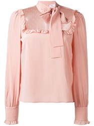 Red Valentino Bow Detail Blouse Pink And Purple