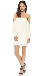 Tbags Los Angeles Off The Shoulder Dress Cream