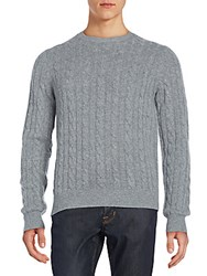 Saks Fifth Avenue Cable Knit Cashmere Sweater Dark Grey