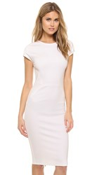 Ali And Jay Zip Back Ponte Sheath Dress Creme