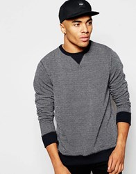 New Look Crew Neck Sweatshirt In Grey Marl Navy