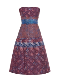 Mary Katrantzou Kelly Jacquard Strapless Dress