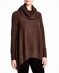 C By Bloomingdale's Cowl Neck Cashmere Sweater Heather Brown