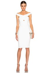 Mason By Michelle Mason Cross Strap Dress In White
