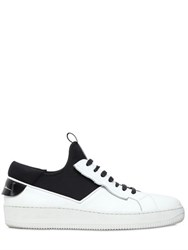 Bruno Bordese Leather And Neoprene Sneakers