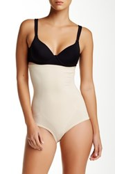 Joan Vass High Waist Control Brief Plus Size Available Beige
