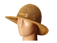 San Diego Hat Company Pbm1029 Crochet Floppy Hat With Grommets Tobacco Caps Brown