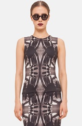 Akris Punto Print Tank Black Cream