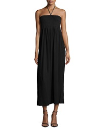 Joie Acadia Smocked Halter Maxi Dress Caviar