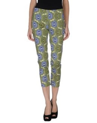 Peacock Blue Casual Pants Acid Green