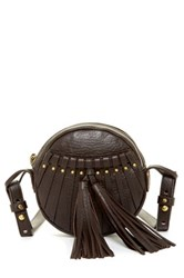 Cynthia Vincent Billy 2 Leather Tassel Crossbody Brown