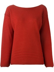 Roberto Collina Drop Shoulder Sweater Red