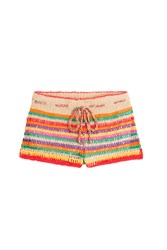 Anna Kosturova Crochet Shorts Multicolor