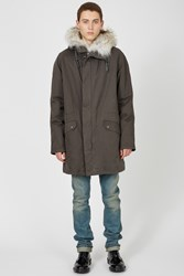 Yves Salomon Classic Long Army Parka Antracite