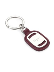 Salvatore Ferragamo Leather Key Ring Red