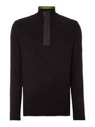 Barbour Throttled Half Zip Jumper Black