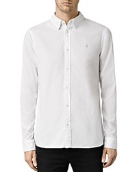 Allsaints Redondo Slim Fit Button Down Shirt White