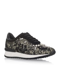 Casadei Nightshade Lace Pearl Trainers Female Black