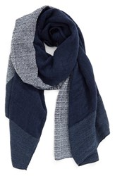 Women's Bp. Colorblock Woven Scarf Navy Ivory