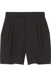 Marc Jacobs Wool And Mohair Blend Shorts Black