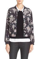 Joie Women's Mace Print Quilted Silk Baseball Jacket