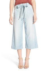 Women's 7 For All Mankind Crop Chambray Palazzo Pants