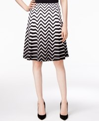 Alfani Printed Fit And Flare Skirt Only At Macy's Ombre Zig Zag