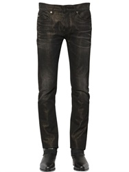Roberto Cavalli 17Cm Glittered Cotton Blend Denim Jeans