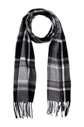 Amicale Plaid Scarf Black