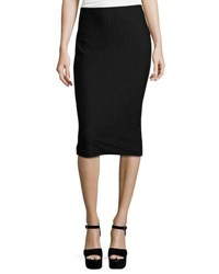 Label By 5Twelve Bodycon Midi Pencil Skirt Black