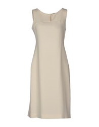 Gio' Moretti Knee Length Dresses Ivory