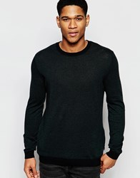Asos Cotton Jumper With Side Zip Pockets Green And Black Twist