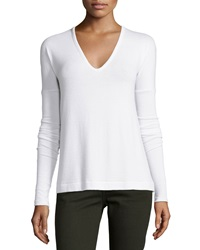 Rag And Bone Rag And Bone Jean Theo Long Sleeve V Neck Tee Bright White