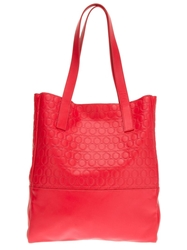 Mcq By Alexander Mcqueen Large Brand Embossed Tote Red